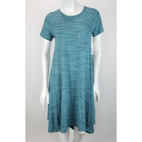 577ef6fed5e New Lularoe Carly Dress XXS Heathered Blue Green
